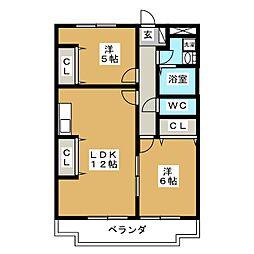 スイートハイツ[2階]の間取り