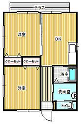 [一戸建] 岡山県岡山市東区西大寺中野 の賃貸【/】の間取り