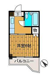 ベルアベニュー町田[2階]の間取り