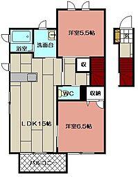 プレミール21 A棟[202号室]の間取り