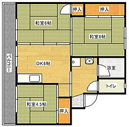 ビレッジハウス直方東 2号棟[204号室]の間取り