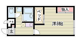 JR播但線 新野駅 バス7分 大空下車 徒歩3分の賃貸アパート 1階1Kの間取り