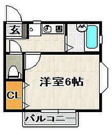 クオリティ三松[203号室]の間取り