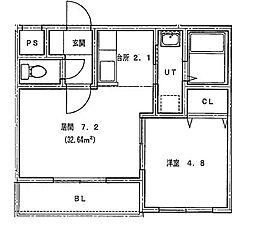 仮)北14条東1丁目MS[402号室]の間取り