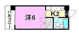 パーチェ4・2・3[401 号室号室]の間取り