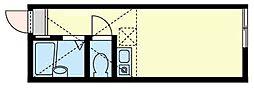 ユナイト横浜ル・リアン[1階]の間取り