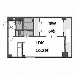 北海道札幌市白石区東札幌二条5の賃貸マンションの間取り