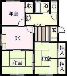佐賀県唐津市鏡赤水の賃貸アパートの間取り