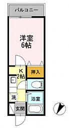 KIKUNAサミット壱番館[201号室号室]の間取り