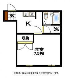 鶴瀬オークビル[3階]の間取り