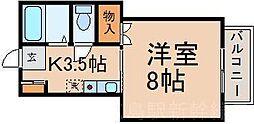 広島県安芸郡府中町大通3丁目の賃貸アパートの間取り