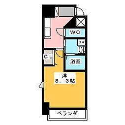 コモレビスクエア大須[8階]の間取り