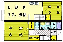 レオネクスト水晶館3[1階]の間取り