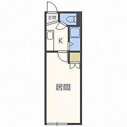 ラ・シャトーレイン[3階]の間取り
