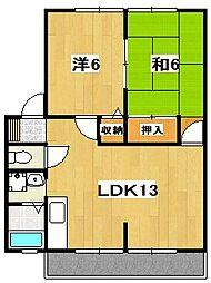 茨城県日立市諏訪町2丁目の賃貸アパートの間取り