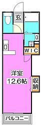 シャトー所沢[3階]の間取り