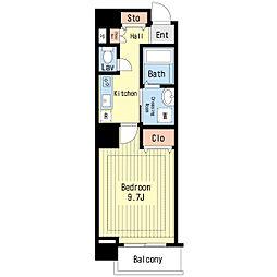 高松琴平電気鉄道琴平線 片原町駅 徒歩6分の賃貸マンション 2階1Kの間取り