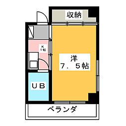 コーポ岡部花塚[2階]の間取り