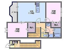 サニーパストラル[2階]の間取り