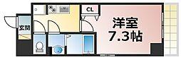 Osaka Metro千日前線 新深江駅 徒歩2分の賃貸マンション 11階1Kの間取り