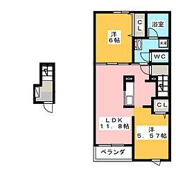 フォックステリア[2階]の間取り