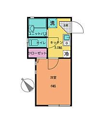 神奈川県川崎市麻生区王禅寺西6丁目の賃貸アパートの間取り