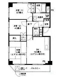 サニーヒル1[2階]の間取り