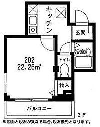 サンユーマンション[202号室号室]の間取り
