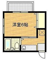 加藤アパート[201号室]の間取り