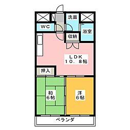 メゾンアイビス[3階]の間取り