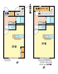 兵庫県姫路市東今宿4丁目の賃貸アパートの間取り