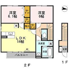 WIT-L神辺[2階]の間取り