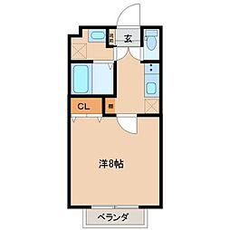 仙台市地下鉄東西線 卸町駅 徒歩13分の賃貸アパート 2階1Kの間取り