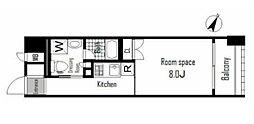東京メトロ銀座線 日本橋駅 徒歩7分の賃貸マンション 2階1Kの間取り