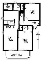 パルボナールC[1階]の間取り