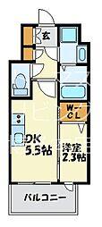 福岡市地下鉄七隈線 渡辺通駅 徒歩4分の賃貸マンション 4階1DKの間取り