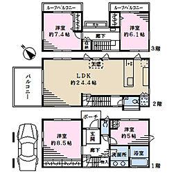 東急田園都市線 駒沢大学駅 徒歩10分 4LDKの間取り