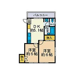 シティハイツ栄[1階]の間取り