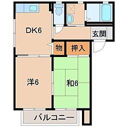 ディアス八重[2階]の間取り