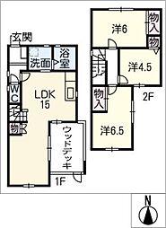 [一戸建] 愛知県豊橋市上地町 の賃貸【/】の間取り
