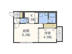 仮)北11東11マンション[2階]の間取り