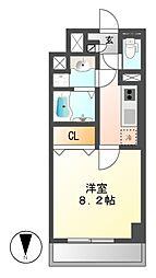 コンセール葵[4階]の間取り