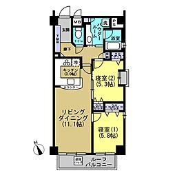 メイフェア横濱関内ポートプレジール[10階]の間取り