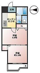 ルビーヒルズ[2階]の間取り