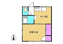 松井荘[3号室]の間取り
