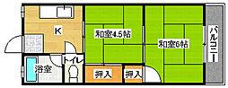 綾之町コーポ[3階]の間取り