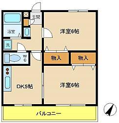 兵庫県神戸市西区大沢1丁目の賃貸アパートの間取り