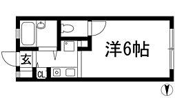 兵庫県西宮市松籟荘の賃貸アパートの間取り
