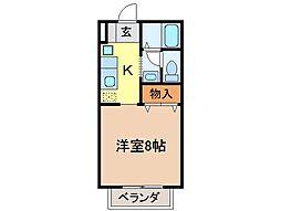 静岡県富士市国久保2丁目の賃貸アパートの間取り