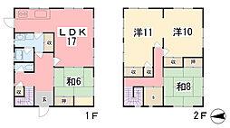 [一戸建] 兵庫県姫路市梅ヶ谷町4丁目 の賃貸【/】の間取り